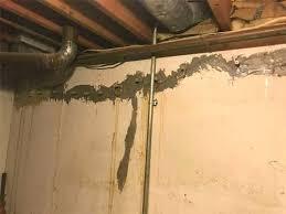 Creacked basement wall